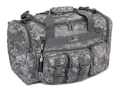 """Mens 18"""" Inch ACU Digital Camo Duffel Duffle Military Molle Tactical Gear Shoulder Strap Travel Bag"""
