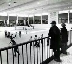 Ice Skating at Mayfair Mall in Milwaukee, WI.  No longer there but you could sit in Mc Donalds and watch the skaters through the windows.