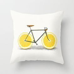 Zest Throw Pillow by Speakerine / Florent Bodart - $20.00 http://society6.com/product/zest-bvz_pillow?curator=NinaMay