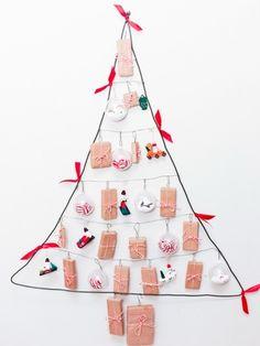kreative Ideen für Adventskalender weihnachtsbaum