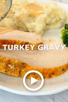 Mom's Famous Turkey Gravy is made from rich, glorious turkey drippings and is the star of Thanksgiving dinner. Perfectly creamy and flavorful every time! recipe videos The Best Turkey Gravy Turkey Gravy Without Drippings, Best Turkey Gravy, Making Turkey Gravy, Homemade Gravy Recipe, Homemade Turkey Gravy, Thanksgiving Gravy, Thanksgiving Recipes, Thanksgiving Dressing, Turkey Recipes