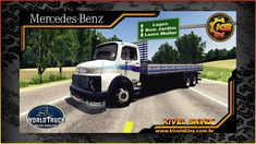 Skins World Truck Driving - Skins Mercedes - Qualificado Azul Mercedes Benz, Trucks, World, Heavy Truck, Old Trucks, Cord Automobile, Garden, Games, Truck
