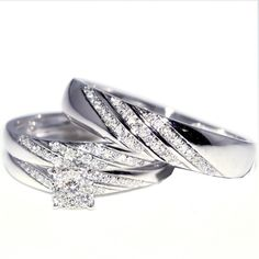 101 Best Wedding Rings Sets His And Hers Images Rings Estate