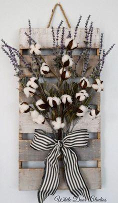 Cotton and Lavender Wall Decor Farmhouse by WhiteDoorStudios