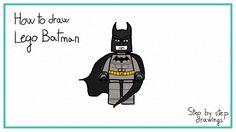 hot to draw Lego Batman