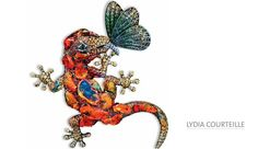 Wallace Chan High Jewelry | Salamander Xochimilco' Brooch by Lydia Courteille- fire opal, green ...