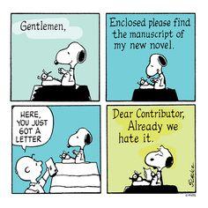 Snoopy works on his vowel.