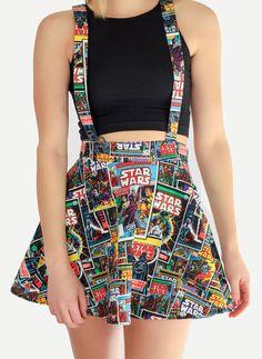 Star Wars Suspender Skater Skirt