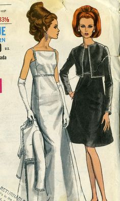 Vintage 60s Vogue 6766 Misses High Waisted Square by RomasMaison