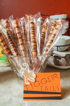 Tigger Tails for Winnie the Pooh Baby Shower