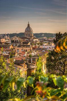 Roma from Villa Borghese (by Tamer Kheiralla)