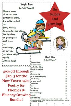 20% store wide sale and 50% off two best-sellers!  Enjoy and Happy New Year! https://www.teacherspayteachers.com/Product/Poetry-for-Phonics-Fluency-Fun-Gr-K-2-Growing-Bundle-Vowels-Cons-Digraphs-2007904