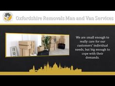 Oxfordshire Removals Company Man and Van Services Oxford House Removals, Removal Services, Oxford, Commercial, How To Remove, Van, Youtube, Vans, Oxfords