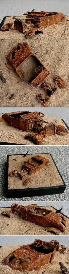 Do you think we can restore her? Here are some images of a small diorama of a Model A Ford abandoned, rusted out and half buried in the sand. (Monograms 1/24) http://thegreatcanadianmodelbuilderswebpage.blogspot.com/2011/10/do-you-think-we-can-restore-her.html
