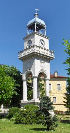 Ioannina clock tower - photo by Skamnelis, via Wikipedia;  Epirus, Greece     https://ro.wikipedia.org/wiki/Ioannina