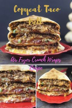 30 Healthy Air Fryer Recipes: Healthy Meals – The Daily Spice Healthy Air Fryer Recipes: Copycat Taco Bell Air Fryer Crunch Wraps Recipe Air Fryer Oven Recipes, Air Fry Recipes, Wrap Recipes, Gourmet Recipes, Mexican Food Recipes, Cooking Recipes, Air Fryer Recipes Ground Beef, Copycat Recipes, Dinner Recipes