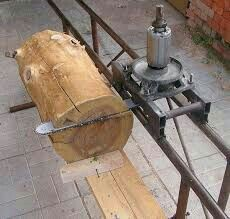 Lumber Mill, Wood Mill, Wood Carving Tools, Wood Tools, Woodworking Jigs, Woodworking Projects, Chainsaw Mill Plans, Homemade Bandsaw Mill, Portable Saw Mill