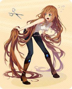 Not cutting my hair..! by *Aka-Shiro on deviantART HAHAHAHA!! Sooooooo ME!!!!!!!!!