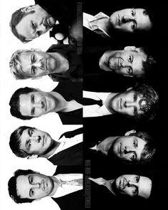 [from the top] Mark Gatiss (Mycroft Holmes), Rupert Graves (Greg Lestrade), Benedict Cumberbatch (Sherlock Holmes), Martin Freeman (John HAMISH Watson) and Andrew Scott (James Moriarty/Richard Brook).