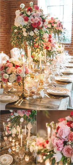 Romantic tablescape with candles by H. White Special Events & Pristine Design // Photograhed by Anna Delores Photography // see more: http://www.thesoutherncaliforniabride.com/2015/02/elegant-and-romantic-pink-wedding-inspiration.html
