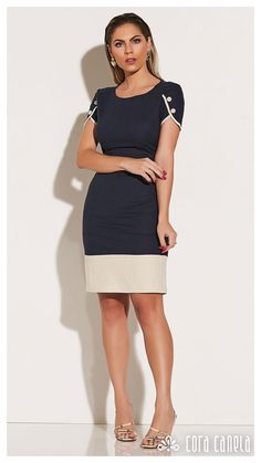 Look Book 11 – Cora in 2020 Simple Dresses, Elegant Dresses, Casual Dresses, Short Dresses, Classy Work Outfits, Classy Dress, Stylish Outfits, Office Dresses For Women, Clothes For Women