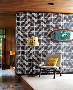 Stylised acorn cups in a retro geometric look by Orla Kiely.