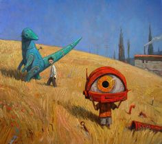 Combining humour and surreal fantasy, Shaun Tan pictures a summer in the lives of two boys. Each spread tells of an event and the lesson . Shaun Tan, Album Jeunesse, Australian Artists, Children's Book Illustration, Childrens Books, Science Fiction, Fantasy Art, Concept Art, Character Design