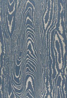 Fabric | Faux Bois Weave in Midnight | Schumacher