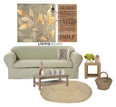 """Senza titolo #5569"" by waikiki24 on Polyvore featuring interior, interiors, interior design, Casa, home decor, interior decorating, Classic Slipcovers, Second Nature By Hand, KAS e Illume"