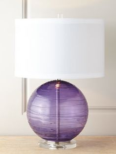 pretty blown #glass table #lamp  http://rstyle.me/n/fxtjypdpe