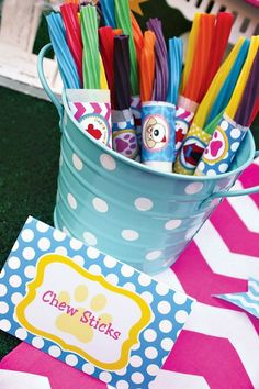 Edible Puppy Chew Sticks and Littlest Pet Shop Party Ideas on Frugal Coupon Living.