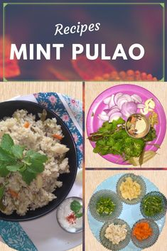 Flavorful pulao recipe made with mint leaves, coriander leaves and mixed vegetables. It is a very tasty and easy lunch box recipe from fresh pudina leaves which can be served as it is or with curds or raita. #mintpulao #pudinarice #pulao #rice #manjirisfoods #blogger #recipes #vegetarian