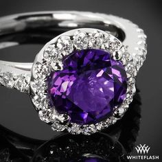 """Purple reigns supreme with the """"Amphora Amethyst"""" Diamond Right Hand Ring."""