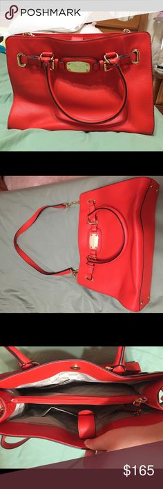 d2661aff3e6ba5 MK Hamilton Michael Kors Hamilton bag. Beautiful orangey colored bag with  gold hardware. I