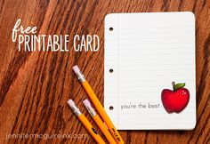time to spoil those teachers once again. free printable downloads!