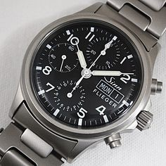 Stainless Steel Band Men's Mechanical (Automatic) Watches for sale Seiko Military Watch, Festina, Automatic Watches For Men, Damascus Steel, Omega Watch, Ebay, Wristwatches, Leather, Stainless Steel