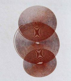 """joseph goold::watered cross effect  (drawing realised with a harmonograph)from harmonic vibrations and vibration figureslondon, newton & co. - 1909  """"and diamond drops turned to half-liquid pearls, and the water went to sleep""""  via theartofmemory.blogspot.com"""