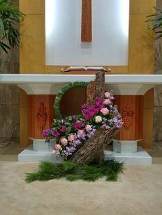 성전꽃꽂이 교회꽃꽂이 새해꽃꽂이 신년꽃꽂이 : 네이버 블로그 Tropical Flower Arrangements, Church Flower Arrangements, Tropical Flowers, Altar Decorations, Flower Decorations, Wedding Decorations, Altar Flowers, Church Flowers, Faux Flowers