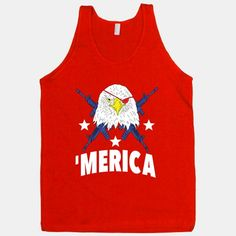 America is the best country. All about bald eagles and shooting guns. We love this badass and awesome land. And if you think you're a real patriot you'll check out this design.   Beautiful Designs on Graphic Tees, Tanks and Long Sleeve Shirts with New Items Every Day. Satisfaction Guaranteed. Easy Returns.