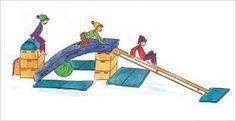 Freestylesituatie: Dikke mat schuin over bok/kast op andere kast of trapezoïde met dekplaat. Van hieruit bank inhaken schuin naar beneden. Andere kast/bok ervoor. Spring via dikke mat(pas op voor terugvallen) naar kast/bok en loop af via de schuine bank. Rondom beveiligen met matten.