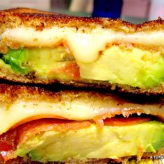 Grilled Cheese with Avacado & Pepperoni