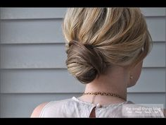 Wrapped Bun -- easy potential do it yourself bridesmaid hair.
