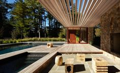Forget the main building. Why do I always want to move into the pool house? . SPAN Architecture...