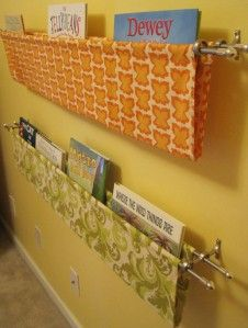 Diy wall mounted book sling book sling organizing and towels book slings or rather than using double rod mounting brackets mount a short single solutioingenieria Choice Image