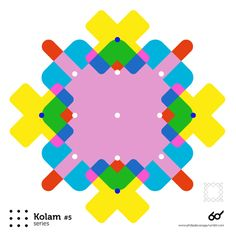 Kolam Series #5  www.philipdecanaga.tumblr.com  A Kolam is a geometrical line drawing composed of curved loops, drawn around a grid pattern of dots in South india. South India, Line Drawing, Grid, Dots, Drawings, Pattern, Design, Graphic Design, Stitches