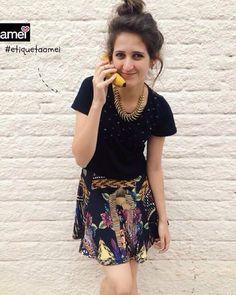 Se as frutas falassem...   #lojaamei #etiquetaamei #banana #Cropped #saia