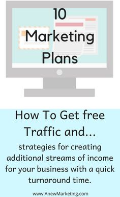 10 Marketing Plans and strategies for creating additional streams of income for your business with a quick turnaround time. Marketing Strategies, Marketing Plan, Income Streams, How To Get, How To Plan, Growing Your Business, Success, Reading, Blog