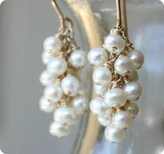 Reserved+for+Franny++Freshwater+pearl+earrings+by+ElisabethSpace