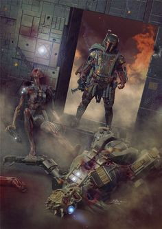 Boba Fett, the most feared bounty hunter in the galaxy! Take a look at this list of awesome Star Wars fan art portraying the beloved Boba Fett! Star Wars Fan Art, Star Wars Concept Art, Star Wars Rpg, Boba Fett Mandalorian, Star Wars Boba Fett, Mandalorian Cosplay, Star Wars Pictures, Star Wars Images, Chasseur De Primes