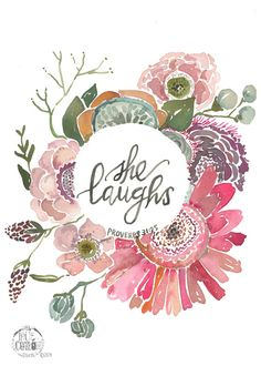 She Laughs Proverbs 31:25 PRINT by truecotton on Etsy